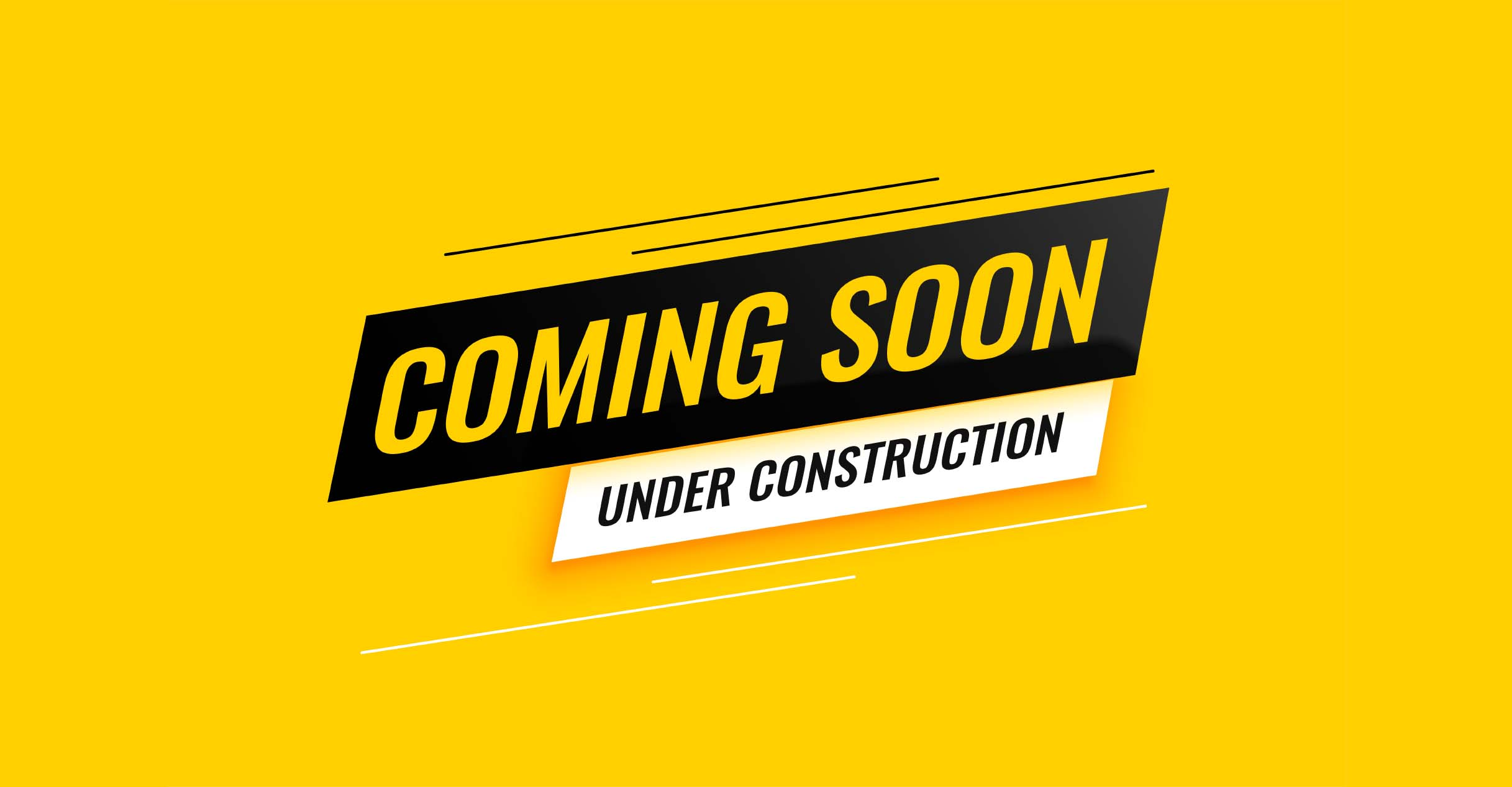 coming soon under construction yellow background design